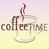 咖啡时间豆词 — 图库矢量图片