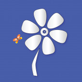 Flower and butterfly color vector — Vetorial Stock