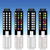 Hotel vector art illustration — Stockvektor