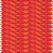 Red brick wall vector illustration — Stockvektor