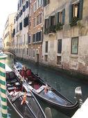 Venice italy with gondola on the river — Foto de Stock