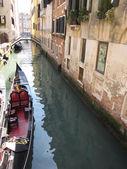 Venice italy with gondola — Foto de Stock