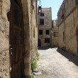 Streets in the old city of Rhodes photo one — Stock Photo #55002319