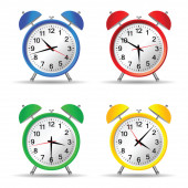 Beauty clock vector illustration — Stock Vector