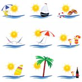 Beauty summer icon vector illustration — Stock vektor