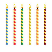 Birthday candles for cake vector illustration — Stock Vector