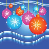 Christmas background with decorate ball — Vecteur
