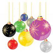 Christmas ball background vector illustration — Vecteur