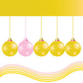 Christmas decoration ball in gold color vector illustration — Vecteur