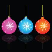 Christmas decorativ ball vector illustration — Vecteur