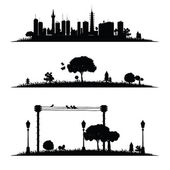 City and nature vector illustration — Stock Vector
