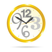 Clock beauty vector illustration — ストックベクタ