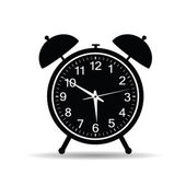 Clock in retro style vector illustration — ストックベクタ