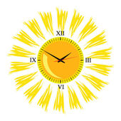 Clock in the sun illustration vector one — Stock Vector