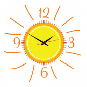 Clock in the sun illustration vector two — ストックベクタ