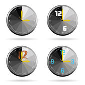 Clock set color vector illustration — Stock Vector