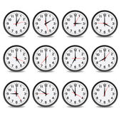 Clock that show every hour vector illustration — Stock Vector