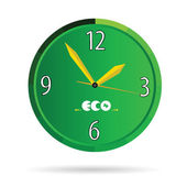 Eco green clock color vector — Stock Vector