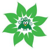 Eco bird green vector — Stock Vector