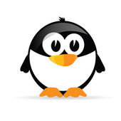 Funny and sweet penguin vector illustration — Stock Vector