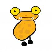 Funny adorable animal vector — Stock Vector