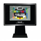 Lcd tv with test vector illustration — Stock Vector