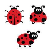 Ladybug cartoon vector illustartion — Wektor stockowy