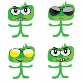 Funny green people vector art illustration — Stock Vector