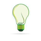 Green bulb vector illustartion — Stock Vector