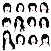 Hairstyles color vector illustration — Stock Vector