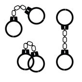 Handcuff black vector — Stock Vector