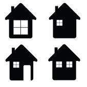House icon illustration in black color — Stock Vector