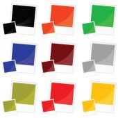 Photo frame in color vector illustration — Stockvektor