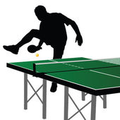 Ping pong player silhouette 1 — Stock Vector