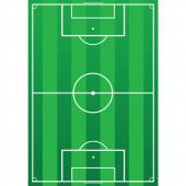 Football field vector illustration — Vettoriale Stock