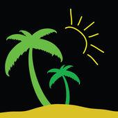 Palm color vector — Cтоковый вектор