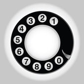 Phone number in circle old telephon — Stock Vector
