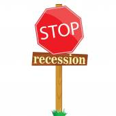 Sign to stop recession vector illustration — Stock Vector