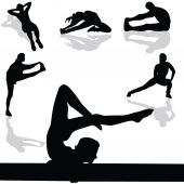 Sports and gymnastic exercises — Stockvektor