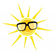 Sun yellow and black glasses — Stock Vector #56575357