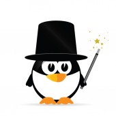 Sweet and cute penguin vector illustration — Stockvector