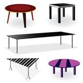 Table room decoration vector illustration — Stock Vector