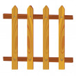 Wooden fence vector illustration — Stock Vector #56580179