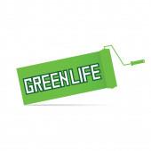 Green life vector — Stock Vector
