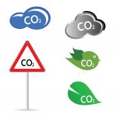Co2 sign vector illustration — Stock Vector