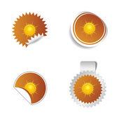 Sticker weather forecast sun vector — Stock Vector