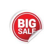 Sticker big sale color vector — Stock Vector