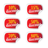 Sticker with discount on it vector — Stock Vector