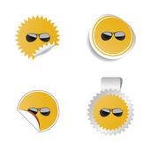 Sunglasses color vector — Stock Vector