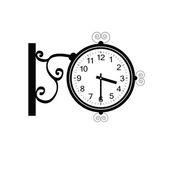 Clock antique beauty black vector — Stock Vector
